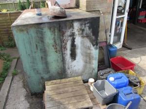 A leaking fuel tank.