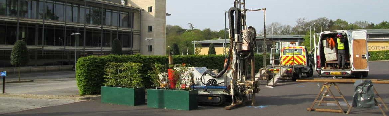 Installation of monitoring boreholes.
