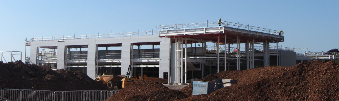 Construction of new Morrisons superstore in Wells.