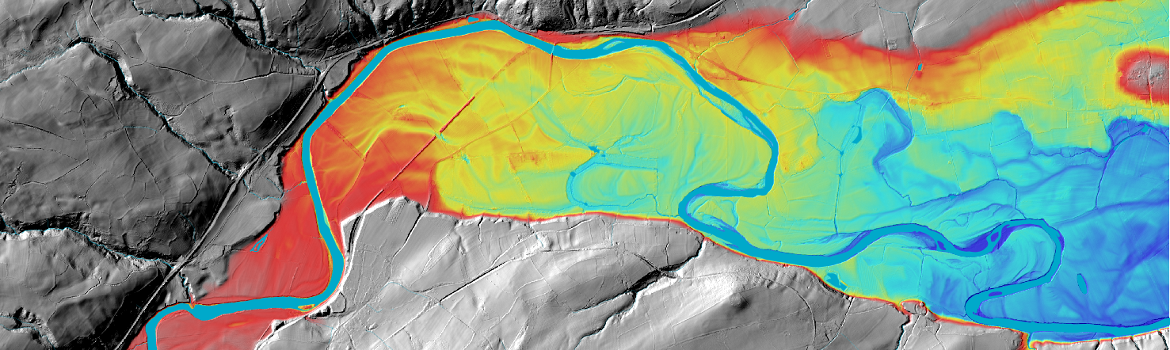 LiDAR data of the floodplain of the River Wye